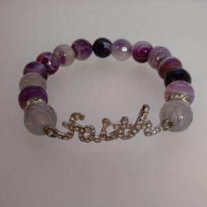 Rhinestone Faith Bracelet